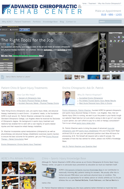 online marketing portfolio - website design testimonials - ACRC Encino